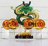 MWC Figura Dragon Shenron PVC Dragon Ball Z + 7 Bolas de Dragon 3,5 cm...