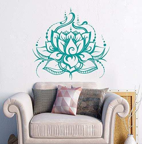 AQjept Yoga Lotus hogar Sala de Estar Dormitorio Impermeable Pared Pegatina Vinilo Pared calcomanía Yoga Studio Mural especial84x92cm