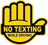 IMakeDecalsforYou No Texting While Driving Multiple Color Choice Sticker Decal Label (Yellow/Black)