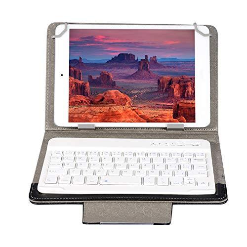 7inchTablet Estuche universal para teclado Bluetooth para computadora portátil, Estuche protector inalámbrico Bluetooth PU, Estuche para teclado Plug and Play, Estuche para teclado Bluetooth