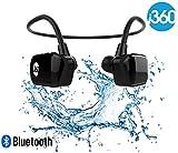 i360 Bluetooth 8 Go Étanche Lecteur MP3 Écouteurs Écouteurs Casque (Édition Noire) Écoutez votre musique tout en nageant / course / entraînement / gymnase Fuss Free sans un cordon! Lecteur de musique