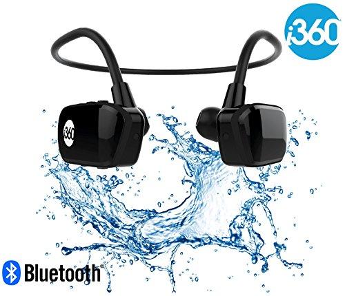 i360 Bluetooth 8GB Waterproof MP3 Player Earphones Earbuds Headphones...