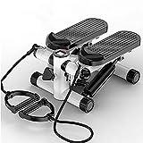 Stepper Up-Down-Stepper con Banda de Resistencia Mini máquina de Ejercicios Bicicleta estática para el hogar Swing Stepper para Entrenamiento de piernas Máquina de Pedales B