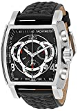 Invicta Men's S1 Rally Stainless Steel Quartz Leather-Synthetic Strap, Black, 26 Casual Watch (Model: 27919)