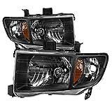 For Honda Ridgeline OE Replacement Black Bezel Headlights Driver/Passenger Head Lamps Pair New