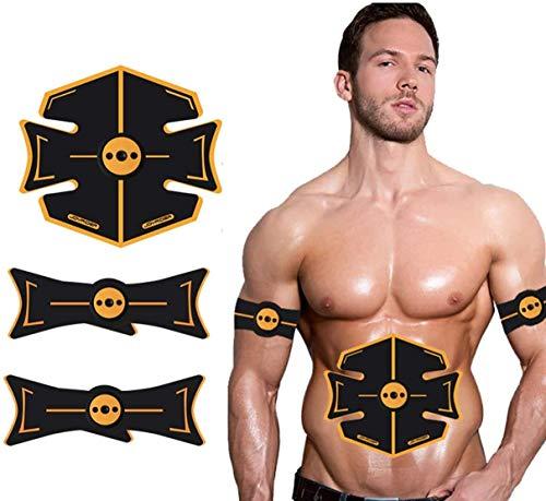 Abs Trainer EMS Muskelstimulator mit 8 Modi 20 Levels Bauch Anreger, USB aufladbare Fitnesstraining Gymnastik-Training-Maschine