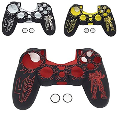 PS4 Controller Skin, Tuscom Soft Silicone Rubber Protector Case Grip Cover Camouflage Sleeve for Sony Playstation 4 Controller Accessories