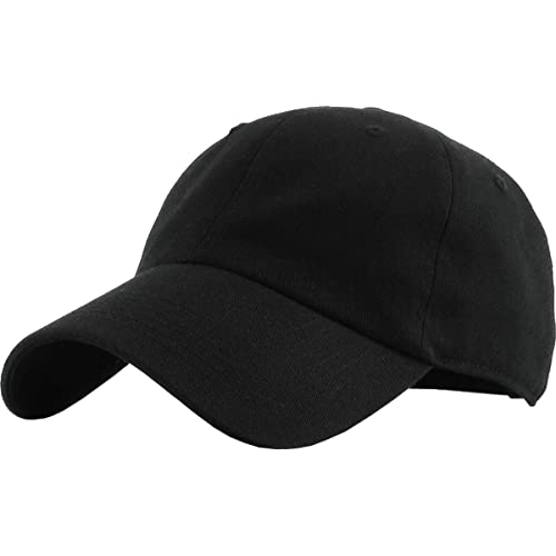 3a4f3f11b7635 KBETHOS Classic Polo Style Baseball Cap All Cotton Made Adjustable Fits Men  Women Low Profile Black