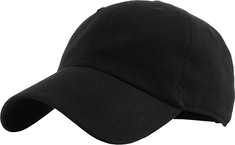 KBETHOS Classic Polo Style Baseball Cap All Cotton Made Adjustable Fits Men Women Low Profile Black Hat Unconstructed Dad