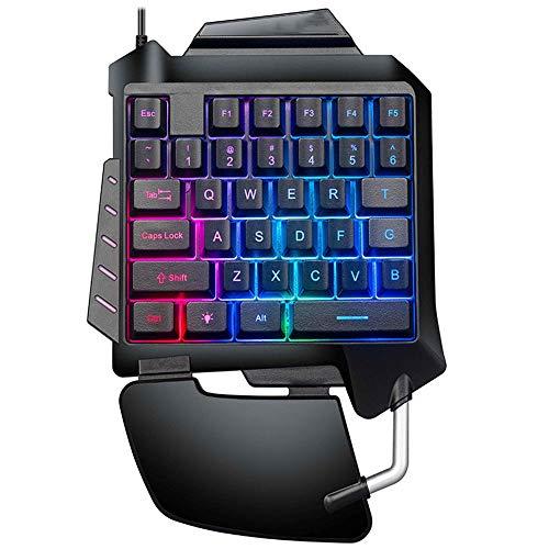 GuiHuaFF Einhandtastatur, mechanisches Gefühl, USB-Kabel, Frieden, Elite Handy-Spiel, Huhn Artefakt zu Essen (Color : G92 one-Handed Keyboard)
