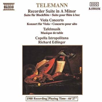 Telemann: Recorder Suite in A minor - Viola Concerto - Tafelmusik: 2 Concerti