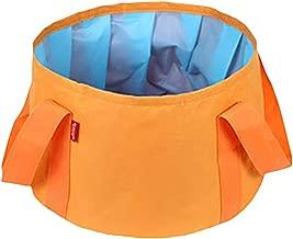 Fan-Ling Foldable Laundry Basket,Large Folding Cloth Washing Box, Outdoor Travel Folding Bucket Wash Basin Collapsible Portable Waterproof 15L,Saves Space (Orange)