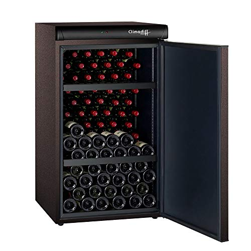 Cave de vieillissement 120 bouteilles CLV122M Climadiff - Idéale petite collection de vins de garde - Porte Pleine