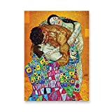 Impresiones de carteles retro de artistas clásicos, pinturas al óleo abstractas, cuadros de arte de pared nórdicos, pinturas en lienzo sin marco A6 15x20cm