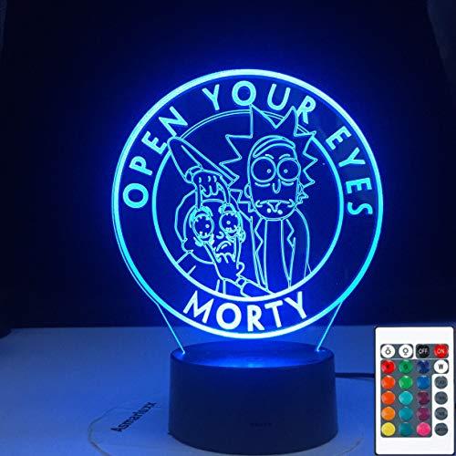 Rick Cartoon Crazy Doctor Morty USB Rick Cartoon Crazy Doctor Morty 3D LED Night Light Table Lamp Bedside Decoration Kids Gift