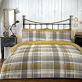 Dreams & Drapes Connolly - Set copripiumino, 100% cotone pettinato, per letto king, colore: Giallo ocra