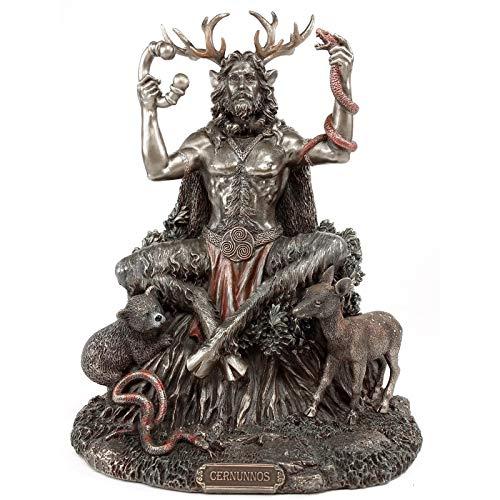 5 Inch Cernunnos Celtics Horned God of Animals Resin Statue The Underworld Statue for Home Garden Decoration