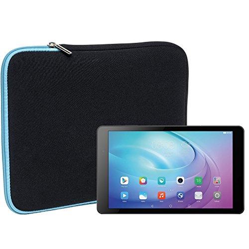 Slabo Tablet Tasche Schutzhülle für Huawei MediaPad T2 10.0 Pro Hülle Etui Hülle Phablet aus Neopren – TÜRKIS/SCHWARZ