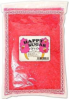 綿菓子用 カラーザラメ 1kg入 イチゴ