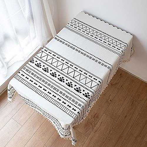 Mantel De Borla Retro Étnico Espesado Impermeable Y A Prueba De Aceite Mantel Lavable Mantel De Té Adecuado para Comedor Y Hogar