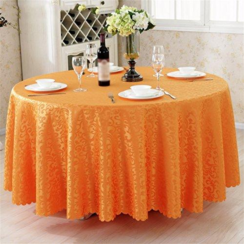 Nappe Table de salle à manger Table Table de table Table ronde Tissu Tableau carré Table de cercle Table Table basse Table de style européen nappe (Couleur : Orange, taille : Diameter 320cm)