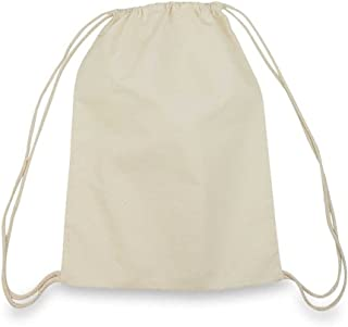 Georgiabags Large Size 100% Cotton Drawstring Bag, Reusable Cinch Pack, Ideal for sports