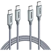USB C to USB C Cable 2 Pack (100W 20V/5A), CHOETECH USB Type C Braided Fast Charging Cable (6ft) Compatible MacBook Pro 2019 2018 2017,MacBook Air,iPad Pro 2020/2019/2018, Dell XPS,Galaxy S20/Note10+