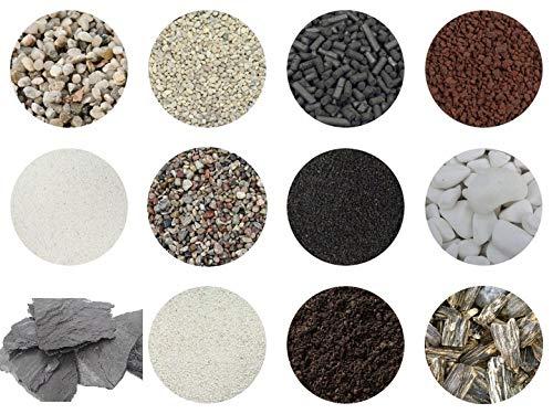 RETNE Starterset XL kiezelstenen voor het maken van mini tuin, terrarium, flessentuin, terrarium/biotop/ecosysteem met flansen (Hedera Efeu, Chamaedorea)