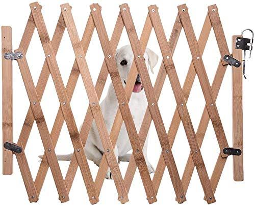 Jardín Vallas Barrera De Seguridad para Mascotas De Perros, Panel De Valla De Madera para Mascota Barrera De Seguridad Perro Gato Puerta De Aislamiento Escalable Puerta Corredera Valla para Perros