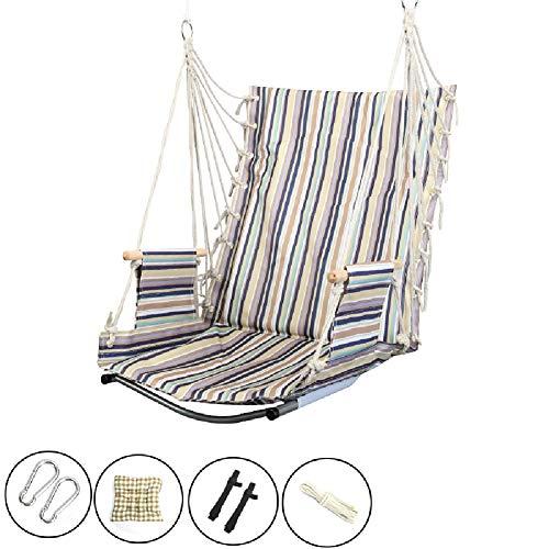 Balançoires YXX Hamac Chaise avec 3 Cordes et 2 mousquetons, siège Suspendu Corde for Cour, Chambre à Coucher, Patio, Porche, intérieur, extérieur (Color : Style-2)