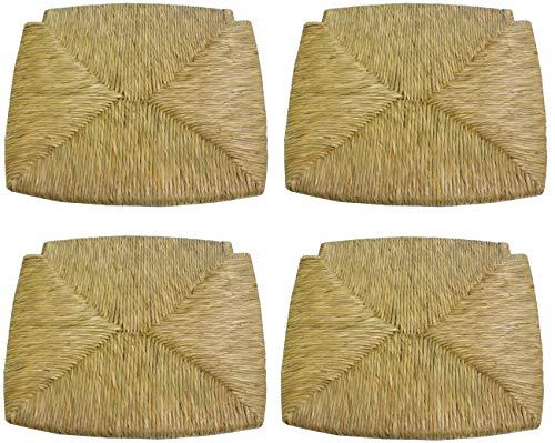SF SAVINO FILIPPO 4 piezas asiento asiento fondo panel de repuesto para silla madera paisana de paja estructura de madera