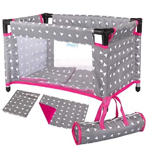 Kinderplay Puppenbett Puppenreisebett Reisebett mit Tasche KP0400S Spielzeug neu Puppenbett für Puppen