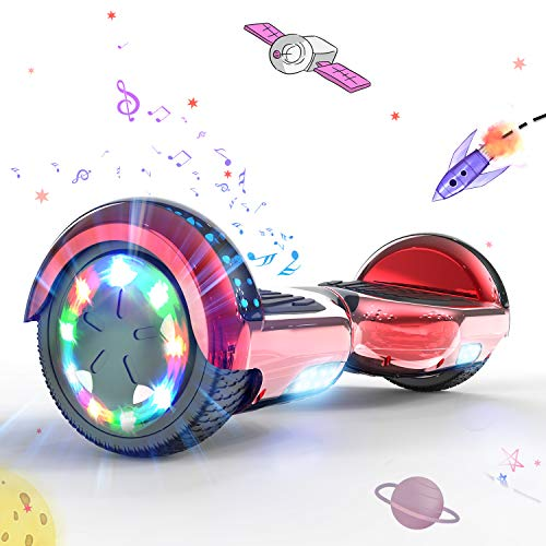 """MARKBOARD Patinete Eléctrico 6.5"""" Hoverboard con Luces LED, Flash Rue"""