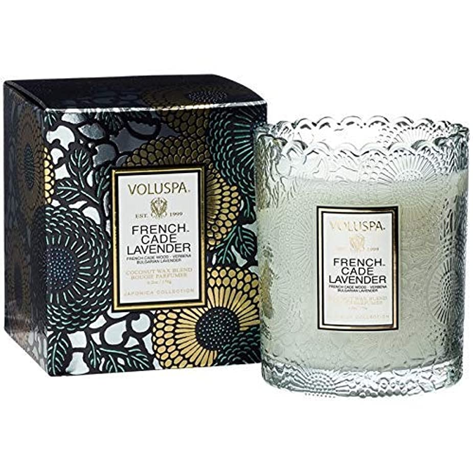 病的軽く豊富Voluspa ボルスパ ジャポニカ リミテッド スカラップグラスキャンドル  フレンチケード&ラベンダー FRENCH CADE LAVENDER  JAPONICA Limited SCALLOPED EDGE Glass Candle