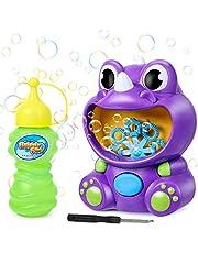joylink Máquina de Burbujas Niños, Portátil Soplador de Burbujas Automático Bubble Blower con Solución, 500 Burbujas por Minuto Juguetes de Burbujas