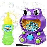 joylink Macchina per Bolle, Portatile Dinosauro Soffiatori di Bolle Automatico Bubble Maker con Soluzione di Sapone, 500 Bolle al Minuto Macchina Bolle di Sapone per Bambini Interno Esterno