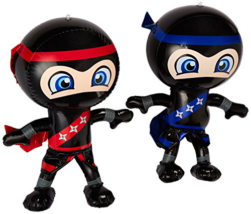 Set of 2 Inflatable 24' NINJAS/PARTY Decorations/INFLATES/Toys/Red/Blue/DECOR