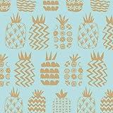 Dashwood Ananas-Stoff, Ananas Gold Metallic, 0,5 m, 100 %