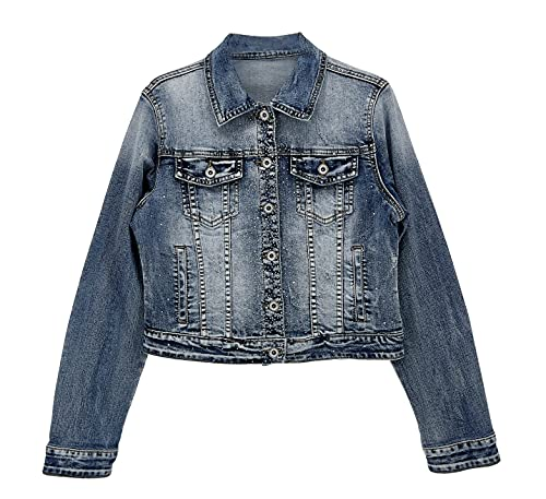 JOPHY & CO. Chaqueta Jeans Corta Denim Mujer Algodón (Cód. 021 & 087) Cód. 087 S