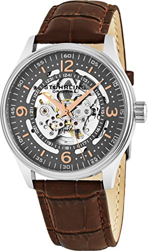 Stuhrling Original Delphi Automatic Watch - Grey Skeleton Dial Wrist...