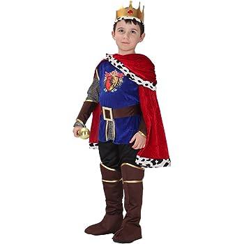Traje de Rey Medieval de Príncipe de Cabritos con 7 Piezas Disfraz ...