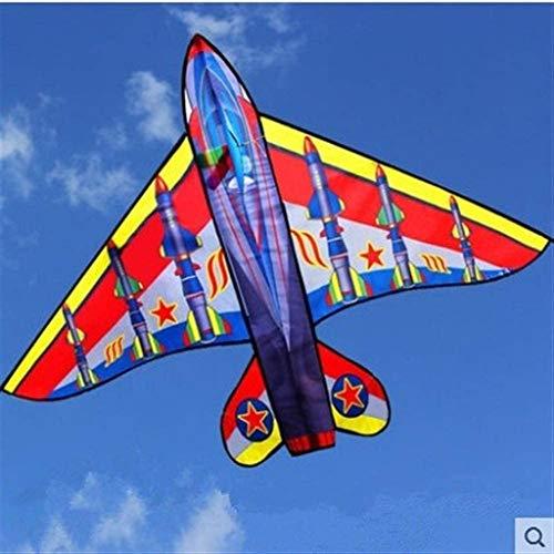Forte e Robusto Aquilone, Bambini Kite Belle Aquiloni for Kids Facile da pilotare for la Spiaggia Outdoor Stunt Kite Scheletro Duro (Colore: Colore Casuale) (Color : Red)