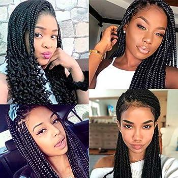 "Silike 14"" Loose End Box Braid Crochet Hair (24 Roots"