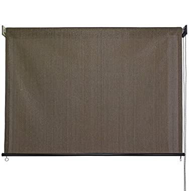 Keystone Fabrics Outdoor Roller Sun Shade, 8-Feet by 6-Feet, Cabo Sand
