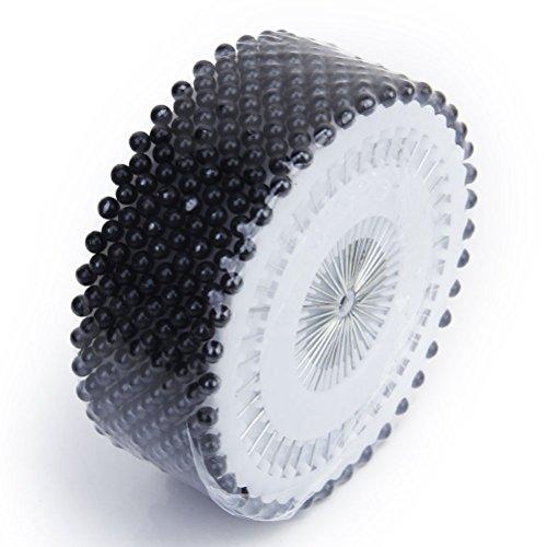 Ounona - 480 alfileres de cabeza con perla, alfileres rectos redondos para...