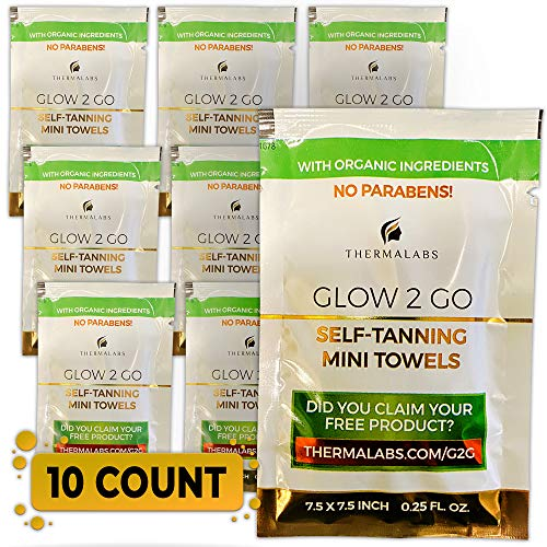 Self Tanning Towels Set of 10, Classic Fair to Medium Fake Tan Towelettes, Organic Sunless Self Tanning Towel Solution For Face And Half Body. Professional Streak Free Sunless Tanning