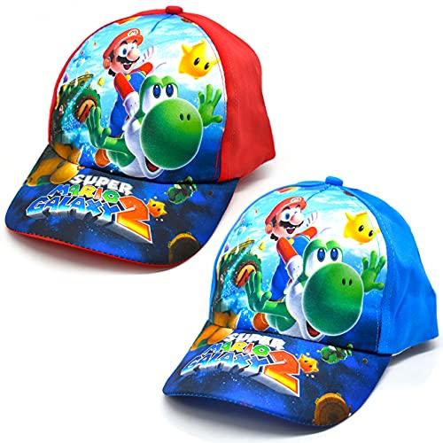 Miotlsy Kinder Cap Super Mario bro für Kinder für Jungen Mädchen Kappe Baseball Cap Basecap Kinder-Geburtstag Schule Sport Sonnenschutz
