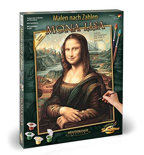 Schipper 609130511 Malen nach Zahlen, Mona Lisa - Bilder malen für Erwachsene, inklusive Pinsel und Acrylfarben, 40 x 50 cm