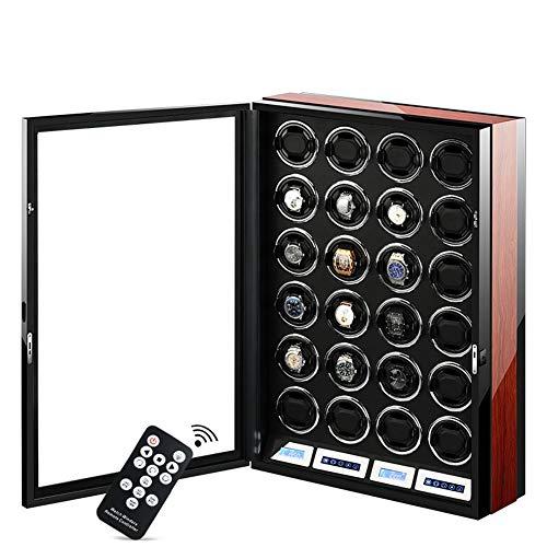 Enrollador de Reloj automático Premium, Pantalla táctil LCD Inteligente + Cajas de Almacenamiento de Reloj con Control Remoto con 5 Tipos de Luces LED