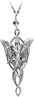 HmgSea Silver Plated Lord of the Rings Arwen Evenstar Pendant Necklace with 60Cm Chain